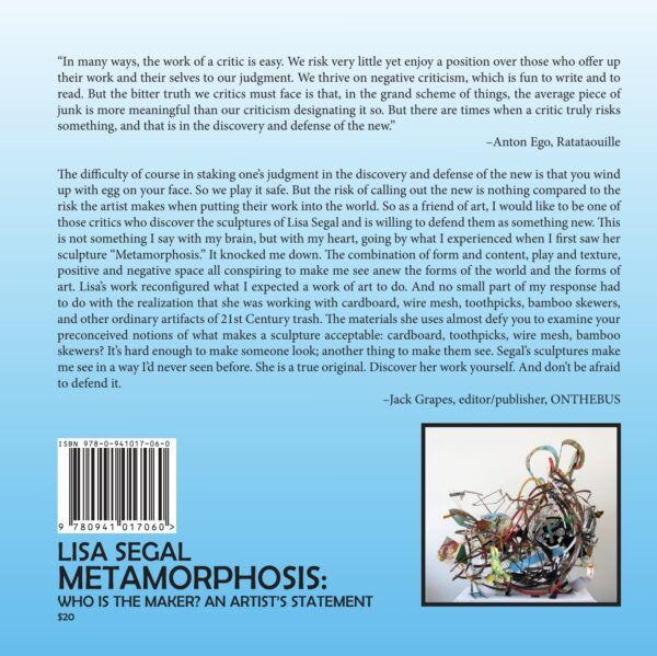 Metamorphosis Back Cover